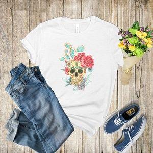 Graphic Tee - Skull & Cactus